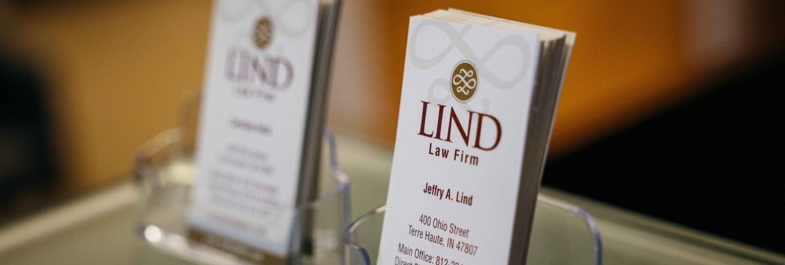 Photo of Lind Law Firm Business Card
